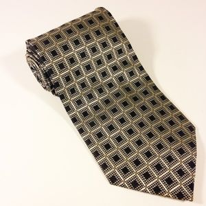 "Valerio Garati Accessories - VALERIO GARATI 100% Silk Men's Checkers Tie 4""x58"""